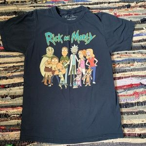 Tops - Rick and Morty Navy Blue tee